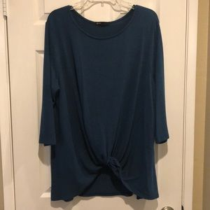 Gibson twist tie blue sweater XXL